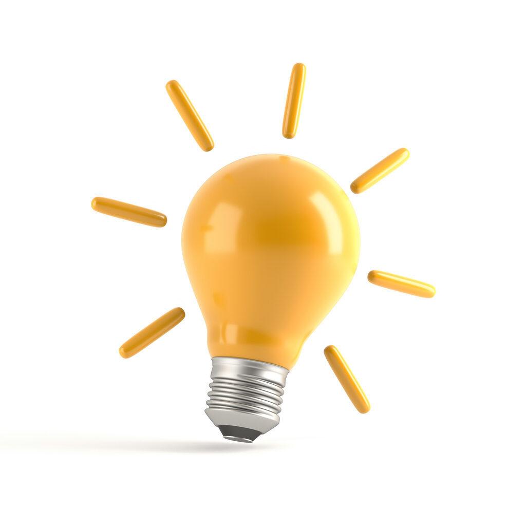 Eine Darstellung einer Glühlampe